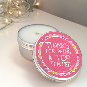 'Thank You Teacher' Scented Candle Tin - candles & candlesticks