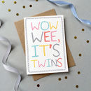 'Wow Wee It's Twins' Card