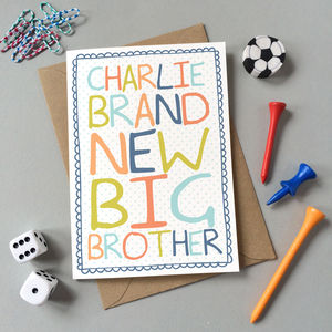 'Brand New Big Brother' Card - birthday cards