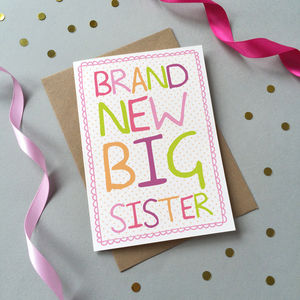 'Brand New Big Sister' Card - shop by category