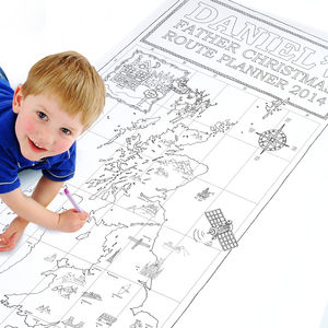 Colour In UK Map Christmas Poster With Stickers