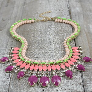 Lavinia Crystal Necklace - statement jewellery