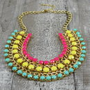 Criss Cross Bead Necklace