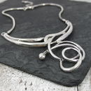 Metal Swirl Necklace