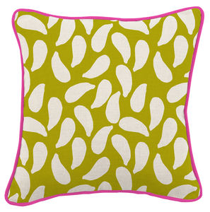 Shell Green Cushion