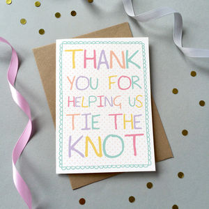 Bridesmaid / Usher Thank You Card - wedding thank you gifts