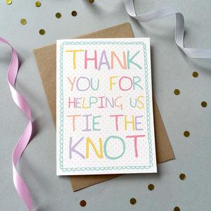 Bridesmaid / Usher Thank You Card