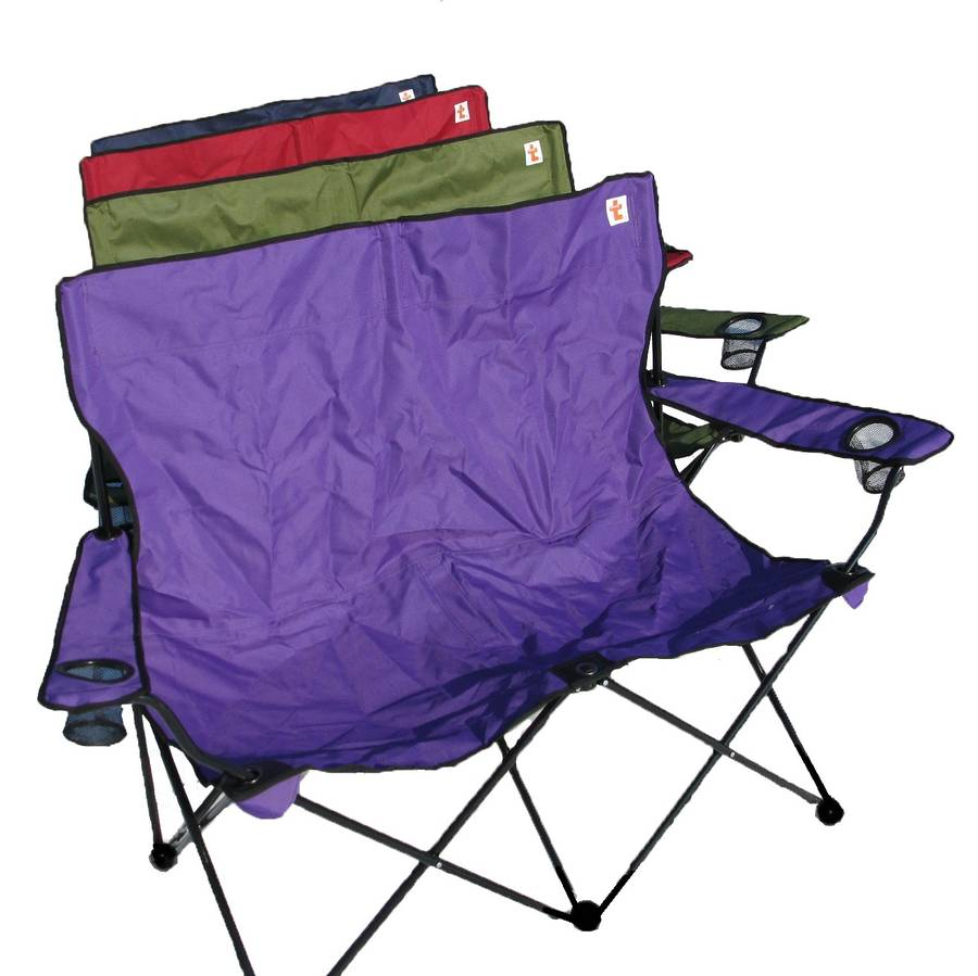 personalised outdoor double folding chair by shortbread t pany