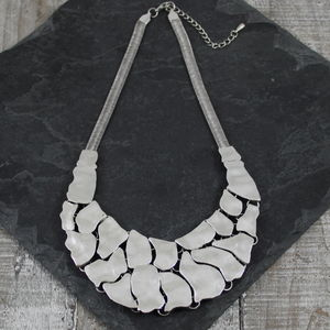 Metal Island Necklace - statement necklaces