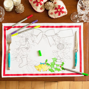 Christmas Placemat Set To Personalise