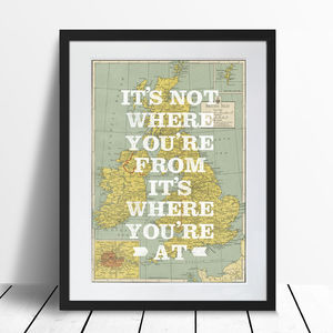 Typographic UK Map Poster