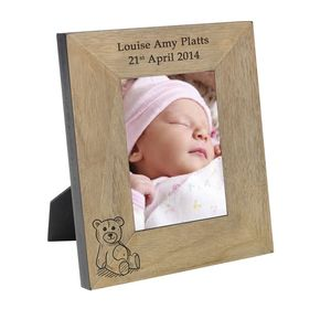 Personalised Teddy Photo Frame - children's room