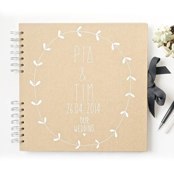 Personalised Large Wedding Guest Book Next Day Delivery