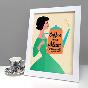 Personalised Coffee With Mum Print