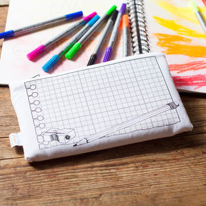 Doodle Pencil Case To Personalise