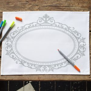 Doodle Decorative Placemat Set To Personalise