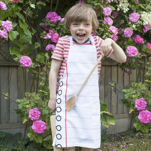 Doodle Cotton Child Apron To Personalise - personalised