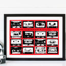 Bespoke Retro Cassette Playlist - red