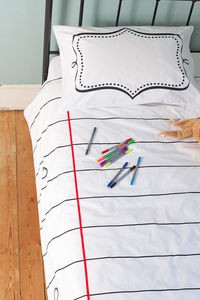 Doodle Duvet Cover Single, To Personalise - gifts for teenage girls