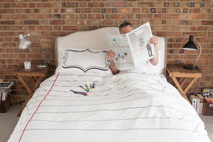Doodle Duvet Cover Double, To Personalise - soft furnishings & accessories