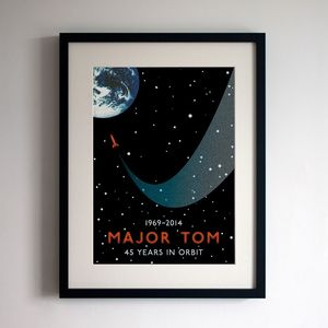 David Bowie 'Space Oddity' Major Tom Print - posters & prints