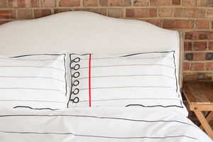 Doodle Pillowcase, To Personalise - bed, bath & table linen