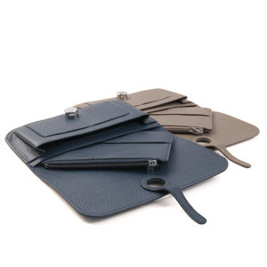 Leather Multi Function Clutch Bag Purse