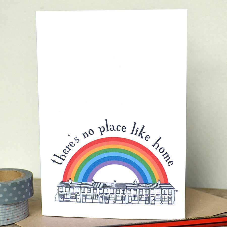 'there's No Place Like Home' New House Print By Becka