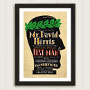 Best Man Personalised Vintage Style Wedding Print
