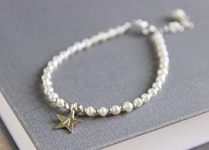 Initial Star Pearl Bracelet - jewellery gifts for bridesmaids