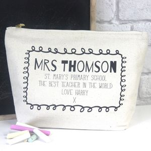 Personalisd Teacher End Of Term Pencil Case - gifts for teachers