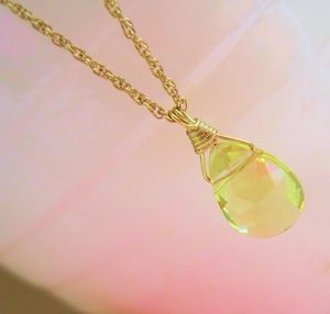 18ct Gold And Lemon Citrine Necklace