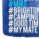 Personalised Hashtag Love List Wall Art Blue - detail