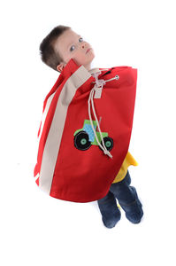 Children'S Red Tractor Swimming/Sports Bag