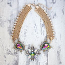 Spike Jewelled Statement Necklace