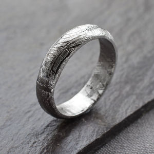 Meteorite Ring Band - men's jewellery