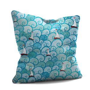 Bobbing Boats Cushion - soft furnishings & accessories