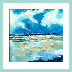 Framed Seascape Two - canvas prints & art