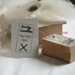 'Make Do And Mend' Personalised Stamp
