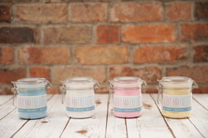 Baby Hat And Bib In A Jar Gift Set