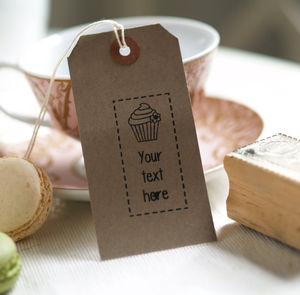 Cupcake Shop Personalised Rubber Stamp