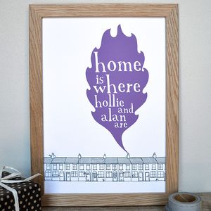 Personalised 'Home Is Where…' Print - home sale