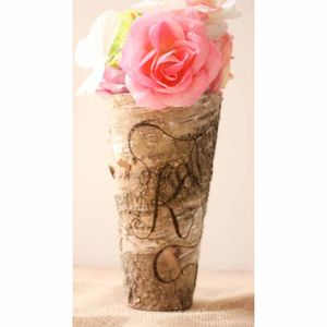 Monogram Birch Bark Vase
