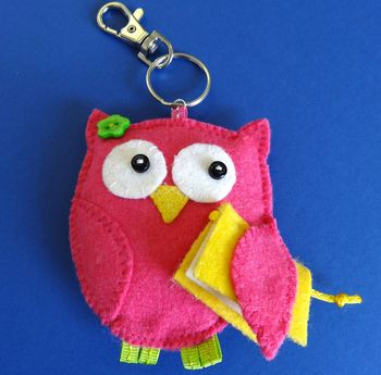 Wise Teacher Owl Keyring
