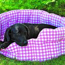 Machine Washable Gingham Dog And Cat Beds