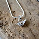 Silver Bird Necklace With Gold Detail