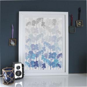 Ombre Tree Silhouette Art Print