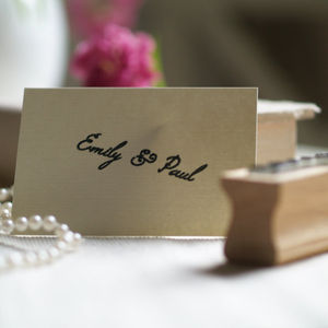 Personalised Couple's Name / Free Text Rubber Stamp