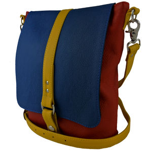 Leather Colour Block Merritt Bag