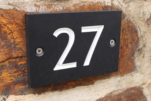 Recycled Slate Alternative Personalised House Number - art & decorations
